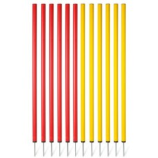 Slalom poles (1 m) – set of 12 pices
