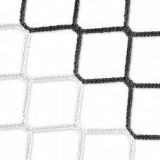 Goal net (black-white) - 5 x 2 m, 4 mm PP, 80 150 cm