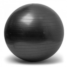 Gymnastics Ball Black Size 65 cm