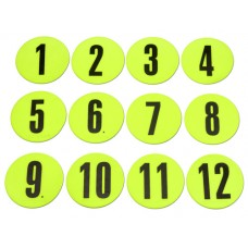 Marking discs with numbers ø12.5 cm (Neon yellow) - Set (1-12)