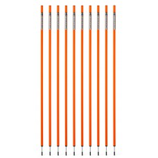 10 Slalom poles 160 cm diameter 25 mm - Orange