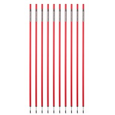 10 Slalom poles 160 cm diameter 25 mm - red