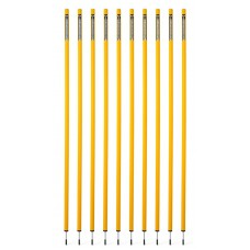 10 Slalom poles 170 cm diameter 32 mm - Yellow