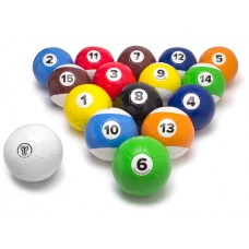 Football billiard - 16 balls including ball bag