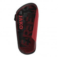 Jako Shin guard Competition Basic red-black 01