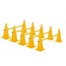 Cone Hurdles Set of 5 Height 38 cm Yellow
