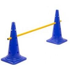 Cone Hurdle Single Hurdle Height 52 cm Blue