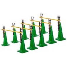 Ladder Hurdles Set of 5 Height 52 cm Green
