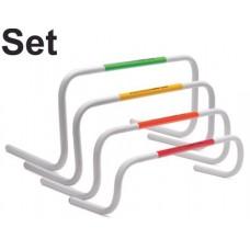 Set of 4 T-PRO Bounce-Back Mini Hurdles - 4 Heights
