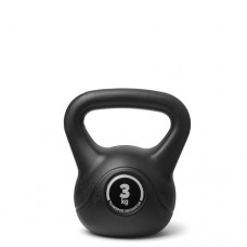 Kettlebell (ball dumbbell) made of plastic - weight: 3 kg
