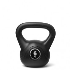 Kettlebell (ball dumbbell) made of plastic - weight: 6 kg