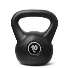 Kettlebell (ball dumbbell) made of plastic - weight: 10 kg