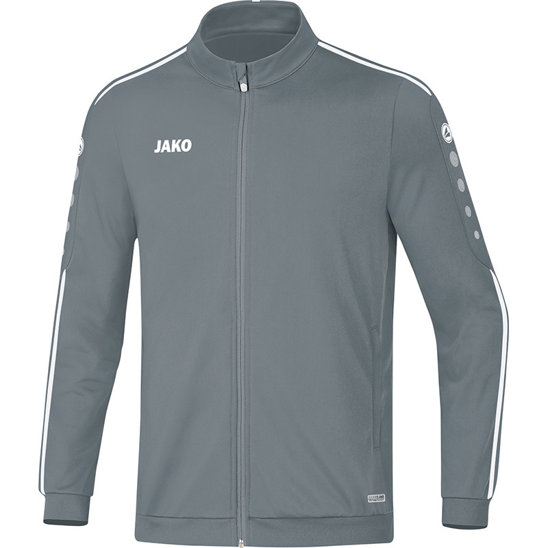 Jako Polyester jacket Striker 2.0 stone grey-white 40
